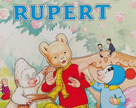 1990 Rupert Bear 70th Anniversary Daily Express Annual - First Edition Children's Books - Vintage Book, Text Comics, Rupert Bear, Bestall