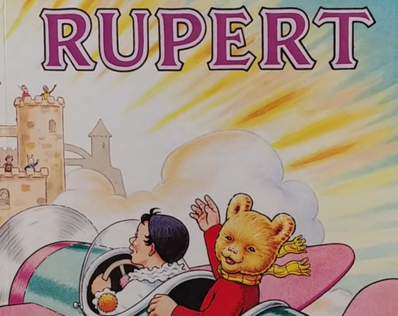 1983 Rupert Daily Express Annual - Children's First Edition Books - Vintage Book, Text Comics, Rupert Bear, John Harrold, 1980s