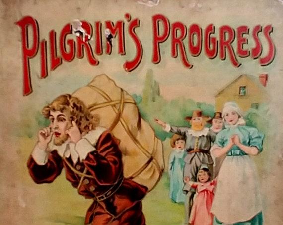 The Pilgrim's Progress by John Bunyan - Vintage and Antiquarian Books - Christian Literature, Religious Books, Puritans, 1600s, 1900s