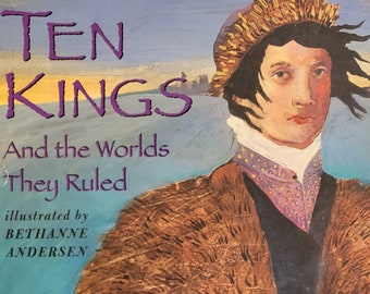 Ten Kings and the Worlds They Ruled by Milton Meltzer - First Edition - Vintage Child Book, History Book