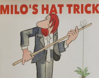 Milo's Hat Trick by Jon Agree - First Edition - Child Book, Vintage Child Book, Magic Tricks, Magic for Kids