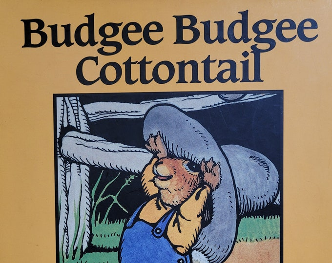 Budgee Budgee Cottontail by Jo Mora - 1995 First Edition Child Book - Vintage Book, Western Artists, California Artists, Child Animal Book