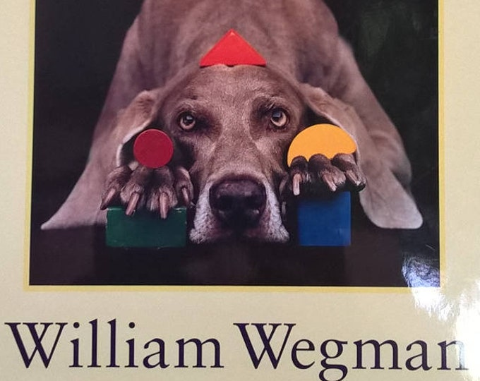Wegmanology by William Wegman - First Edition Children's Books - Vintage Child Book, Photography, ABC Book, Dogs, Weimaraners