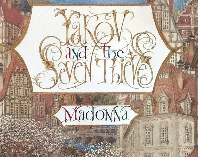 Yakov and The Seven Thieves by Madonna, Gennady Spirin - First Edition Children's Books, Kids Books, Jewish Folktales, Ukraine, Heaven