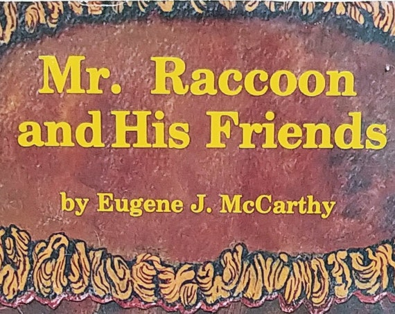 Mr. Raccoon and His Friends by Eugene J McCarthy - First Edition Children's Books - Vintage Book, 1970s