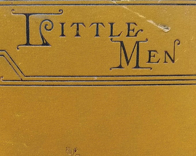 1890 Little Men by Louisa May Alcott - First Edition Children's Books - Antique Book, Little Women Trilogy, 1890s