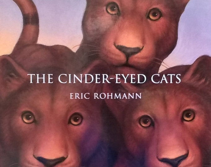 The Cinder-Eyed Cats by Eric Rohmann - First Edition Children's Book - Vintage Child Book, Tropical Island, Tigers, Sailing, 1990s