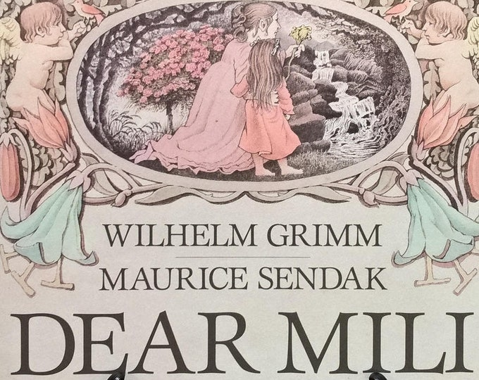 Dear Mili by Wilhelm Grimm, Maurice Sendak - First Edition Children's Books - Vintage Child Book, Brothers Grimm, Guardian Angel, 1980s