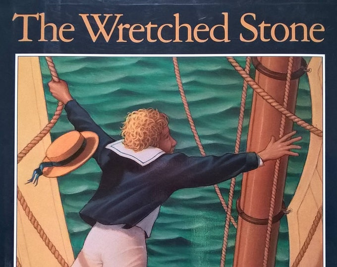 The Wretched Stone by Chris Van Allsburg - First Edition Children's Books - Vintage Child Book, Sailing Ships, Jungle Island