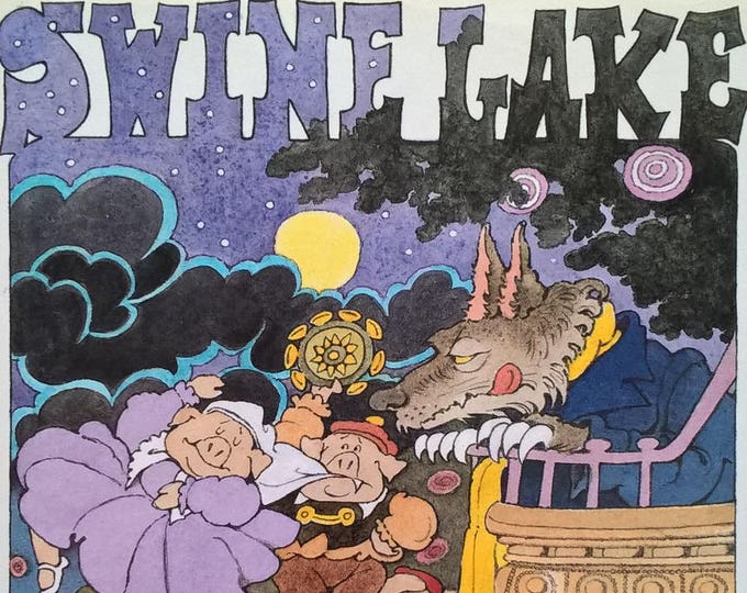 Swine Lake by Maurice Sendak, James Marshall - First Edition Children's Books - Vintage Child Book, Ballet, Swan Lake, Three Little Pigs