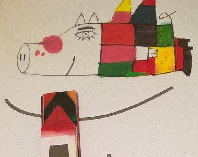 Flying - Turme, Kveta Pacovska - First Edition Children's Books, Kids Books, Hans Christian Anderson Award, Pop-up Books, Flying, Animals