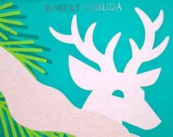 Winter's Tale by Robert Sabuda - First Edition - Childrens Books, Pop-Up Books, Kids Books, Christmas, Snowman, Animals, Owl, Bear, Salmon