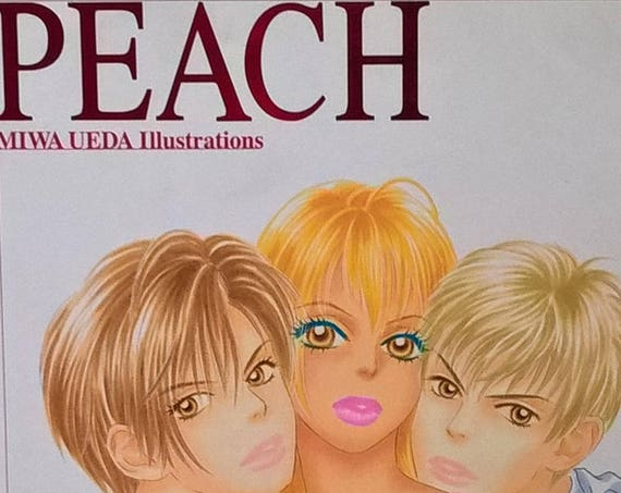 Peach: Miwa Ueda Illustrations - First Edition, Manga, Japanese Comics, Shojo Manga, Tokyopop, Peach Girl, Glass Hearts, Angel Wars, 1990s