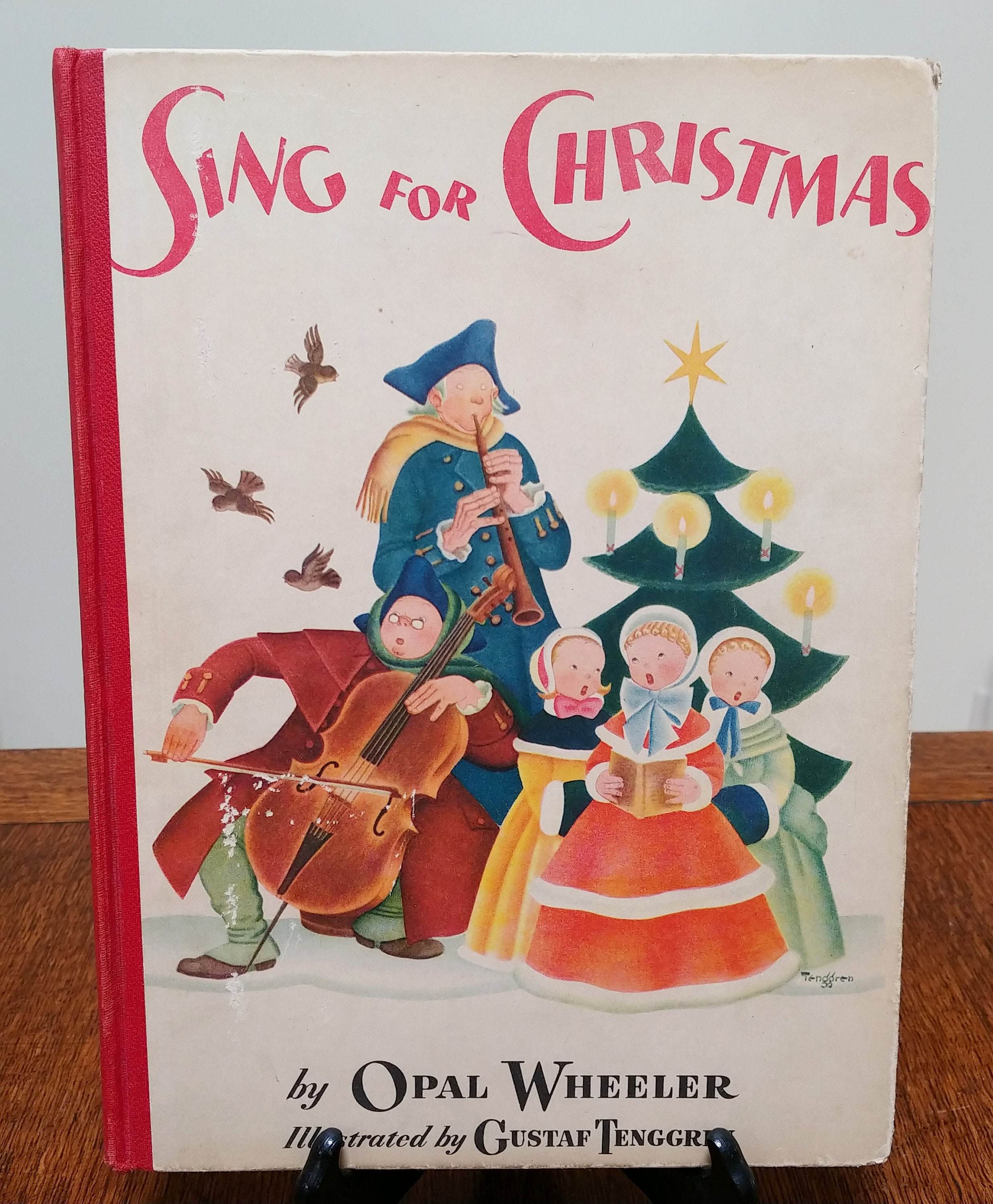 sing for christmas by gustaf tenggren opal wheeler first edition childrens books christmas music music books walt disney artist - Disney Christmas Music