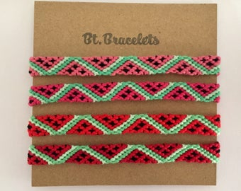 Set of 4 Watermelon bracelets friendshipbracelets 7.50