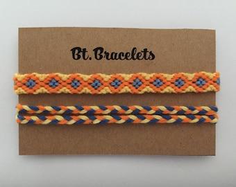 Bracelets Friendship straps yellow/blue/Orange 2.50