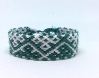 Friendshipbracelet Green/White