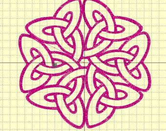 """Embroidery file """"Celtic big knot"""" 6/7 inch"""