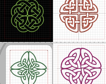 """4 embroidery files """"Celtic Knot"""" in different sizes"""