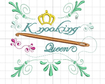 """Embroidery file """"Knooking Queen"""""""