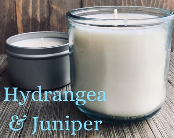 Hydrangea & Juniper Soy Candle