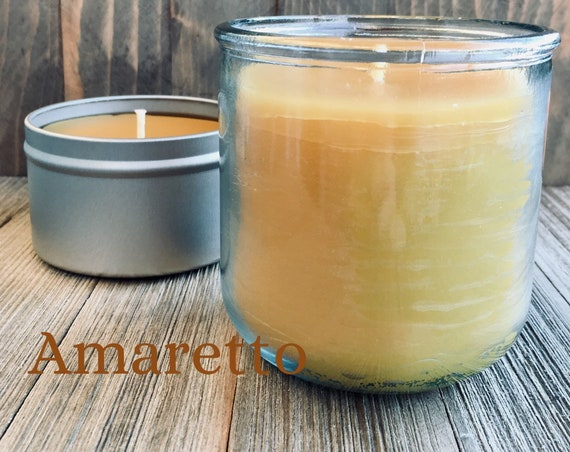 Amaretto Natural Beeswax Candle