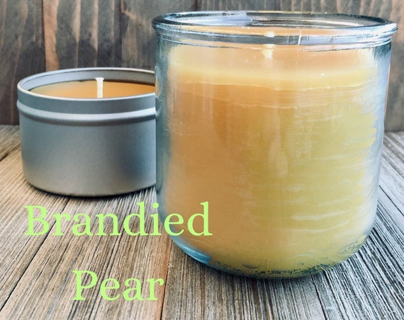 Brandied Pear Beeswax Candle