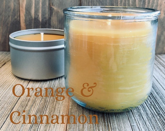 Orange & Cinnamon Natural Beeswax Candle