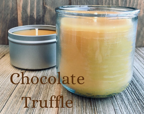 Chocolate Truffle Beeswax Candle