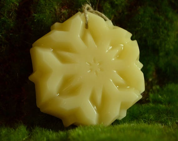Handmade Snowflake Christmas Beeswax Ornament