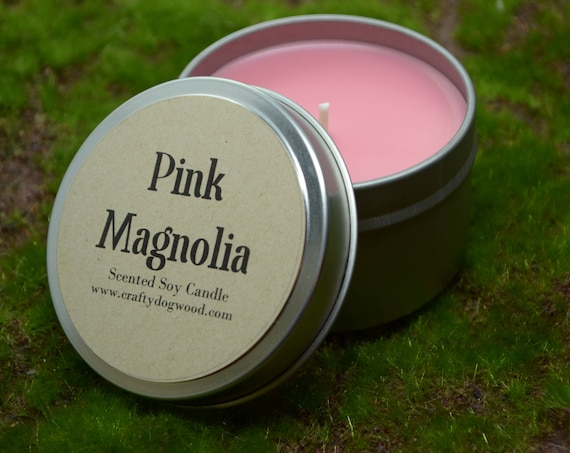 Pink Magnolia Soy Candle