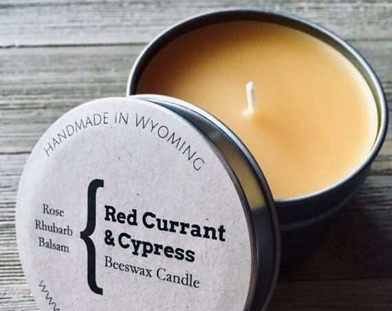Red Currant & Cypress Natural Beeswax Candle