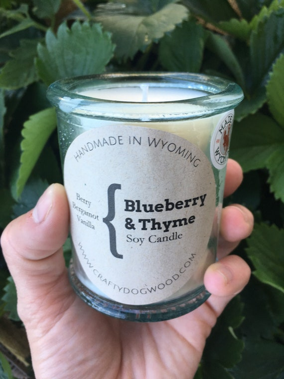 Blueberry & Thyme Soy Candle