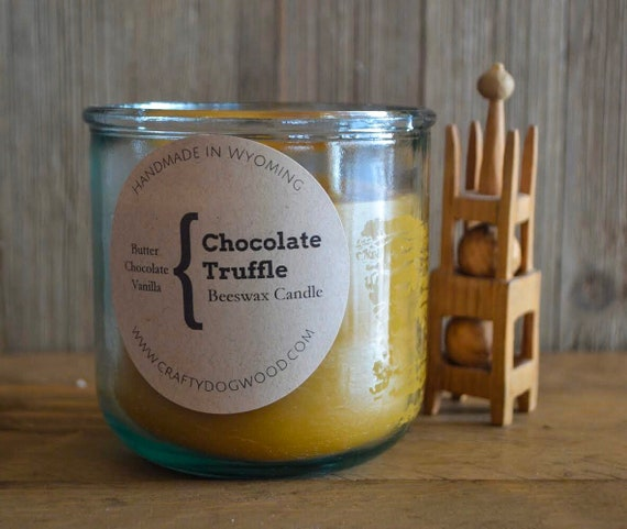Chocolate Truffle Natural Beeswax Candle