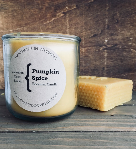 Pumpkin Spice Beeswax Candle