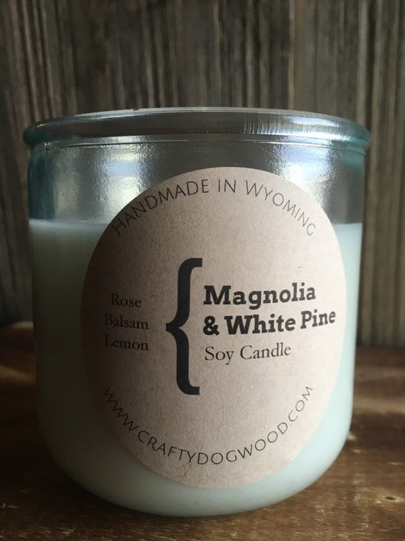 Magnolia & White Pine Soy Candle