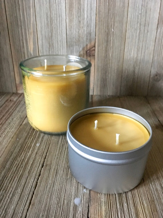 Mistletoe Natural Beeswax Candle