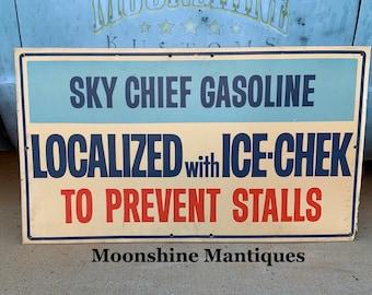 Gas /& Oil 1960\u2019s CHAMPLIN REGULAR GASOLINE Porcelain Gas Pump Plate Sign