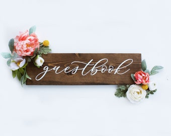 Guestbook sign, Rustic Wedding Sign, Wedding Table Decor, Wedding Decor, Centerpiece Sign, Please sign our guestbook, Timber Farms Co.