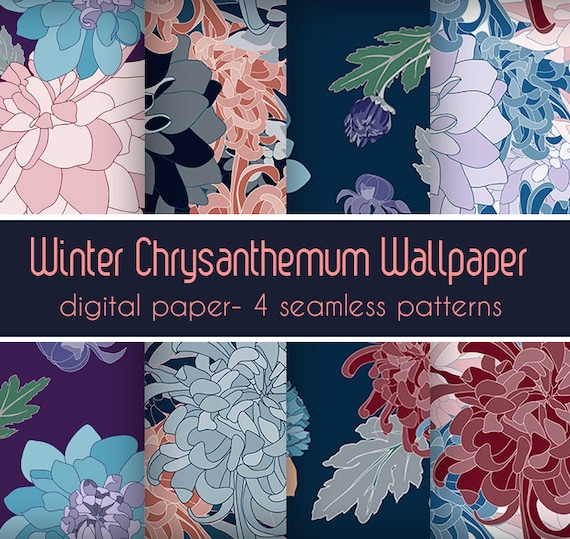 Wrapping paper digital paper pack flower paper downloadable etsy image 0 mightylinksfo