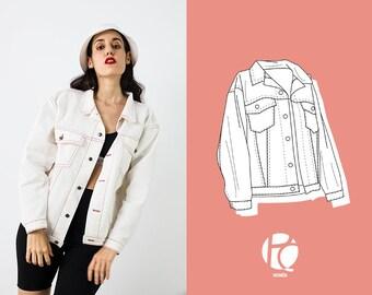 Cory Oversized Retro Jacket Or Shirt   6 SIZES   PDF Sewing pattern