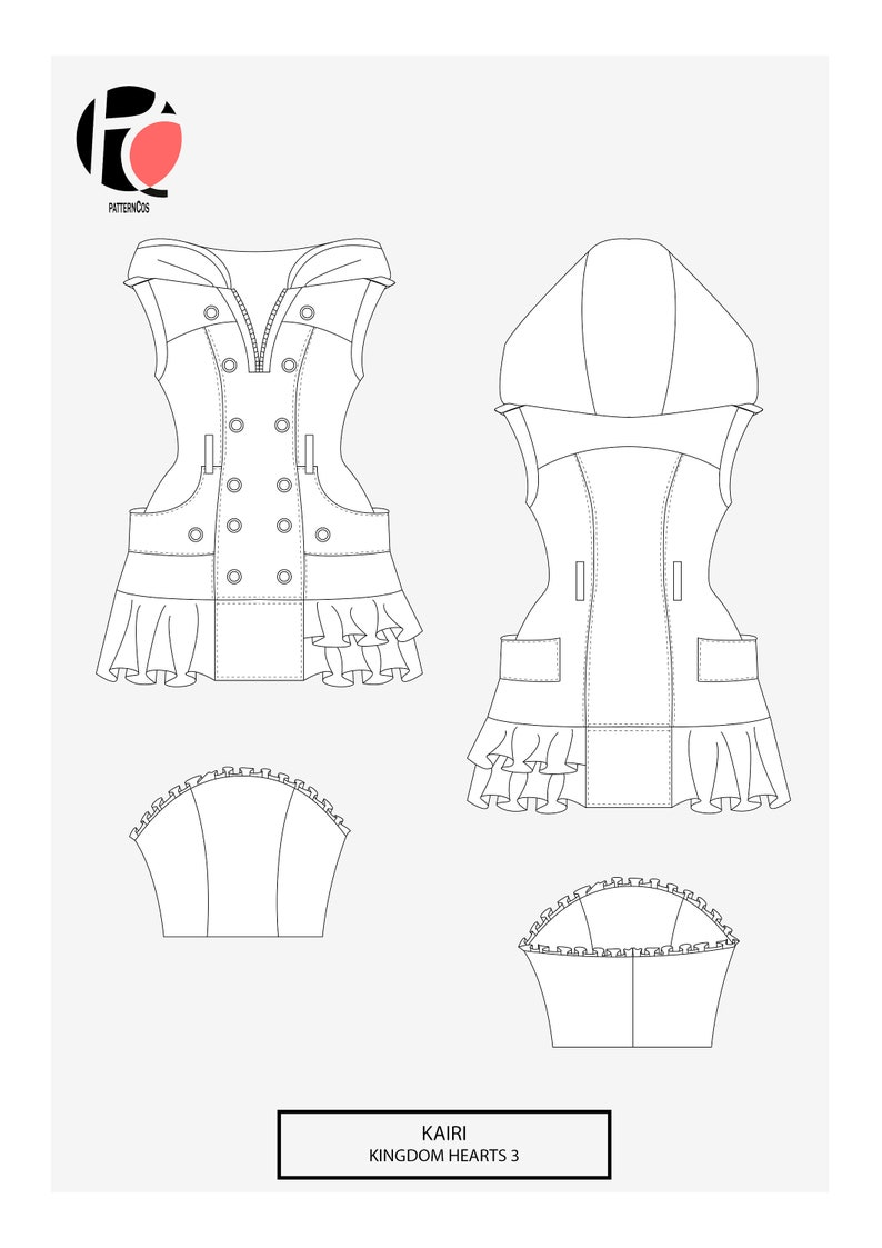 Kairi Kingdom Hearts 3 Cosplay Sewing Pattern Etsy