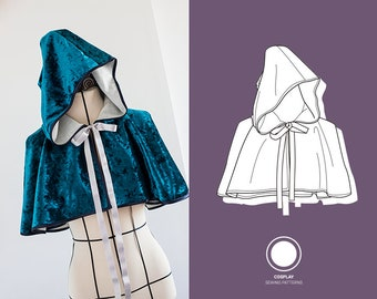 Cloak  pattern for cosplay and costumery   Short and large!!