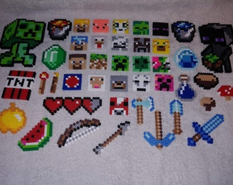 3d Perler Bead Minecraft Chest Etsy