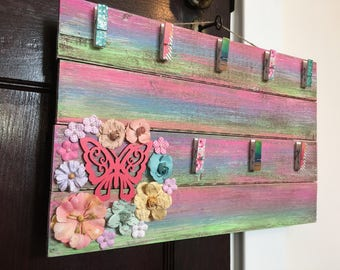 BUTTERFLY PALLET FRAME butterfly nursery decor girls room wall art nursery wall art babys room baby room decor butterflies pastel nursery