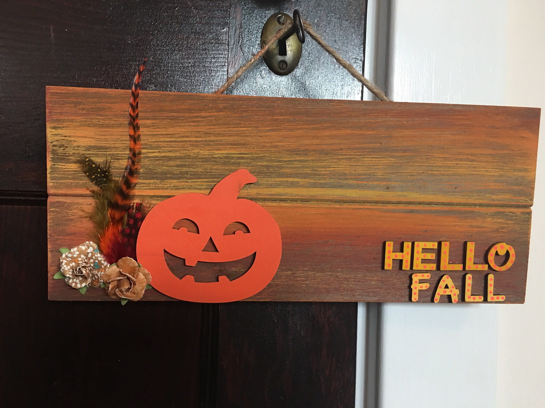 hello fall sign hello fall pallet sign pumpkin sign halloween sign fall decor halloween decor autumn sign fall pallet sign rusitc fall decor