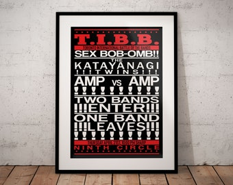 Toronto International Battle Of The Bands Poster Based On Scott Pilgrim Vs. The World