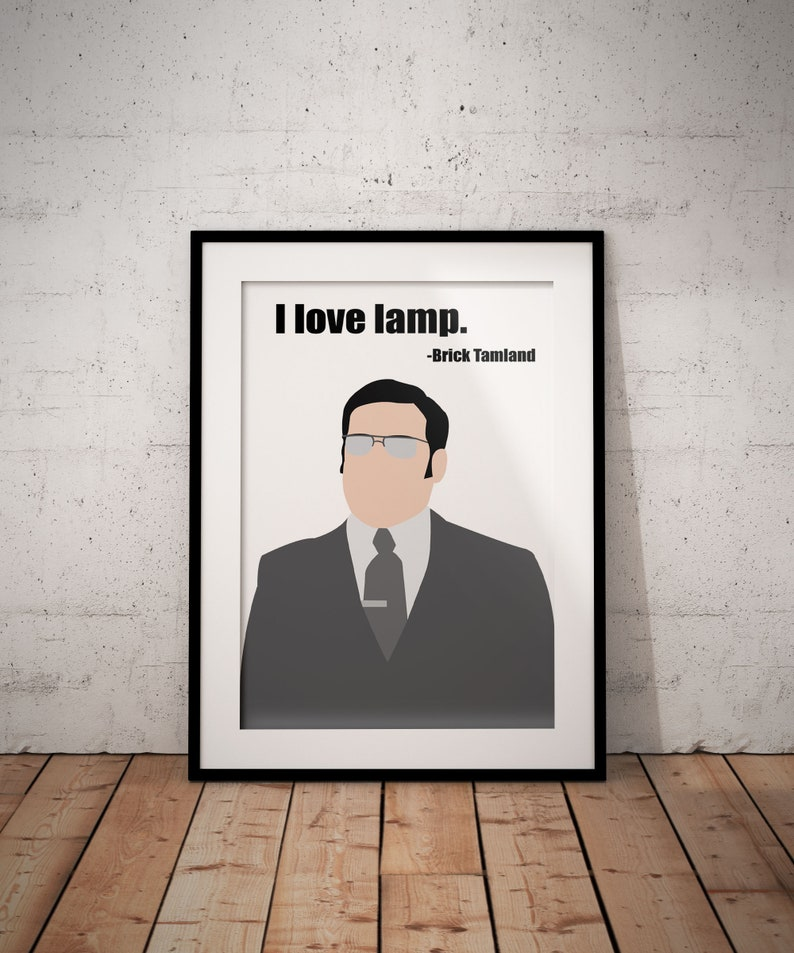 I Love Lamp Poster Based on Brick Tamland From Anchorman: The Legend Of Ron  Burgundy