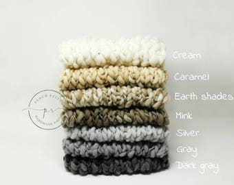 ALL COLORS Thin and thick blanket/basket stuffer/bump blanket/Newborn Photography Props/layering blanket/photo prop/layering piece/preorder