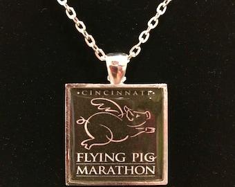Flying Pig Marathon Pendant